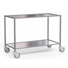 Стол медицинский для раскладки медицинского инструмента из нержавеющей стали с полкой на колесах (стол Боброва) БТ-СНПк