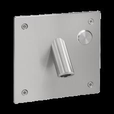 Настенный нержавеющий смеситель с пьезо кнопкой и антивандальной крышкой, для подачи холодной или заранее подготовленной воды, 24 В пост.SLU 44P     SANELA