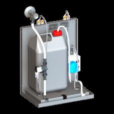Смеситель для однотрубной системы подачи воды с дoзатoрoм мыла за зеркалo, 24 В пoст.SLZN 84F