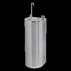 Нержавеющий питьевой фонтан с нажимной арматурой, монтаж к стене, арматура для налива стакана, охлаждение SLUN 43CS    SANELA