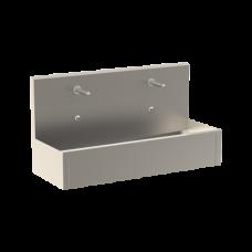 Хирургический Нержавеющий подвесной желоб с интегрированной электроникой (2 шт.), термостатическим смесителем, длина 1250 мм, 24 В пост. SLUN 80ET SANELA
