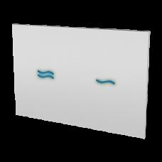 Электронное сенсорное устройство для смыва унитаза, цвет стеклянной крышки REF 1502 белый, подсветка голубая, 24 В SLW 30A SANELA