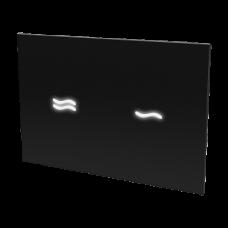 Электронное сенсорное устройство для смыва унитаза, цвет стеклянной крышки REF 9005 чёрный, подсветка белая, 24 В  SLW 30E