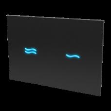 лектронное сенсорное устройство для смыва унитаза, цвет стекланной крышки REF 9005 чёрный, подстветка голубая, 24 В SLW 30F  SANELA