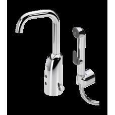 Бесконтактный смеситель для умывальника с рукояткой регулировки температуры и ручным душем Bidetta Oras Electra 6332F