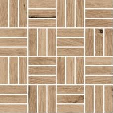 Мозаика на сетке Cersanit Woodhouse темно-бежевый 30x30 WS6O156