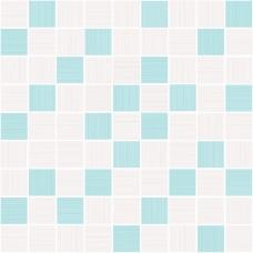 Мозаика на сетке Cersanit Tiffany голубой 30x30 TV2L041