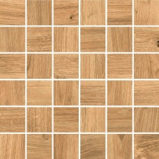 Мозаика на сетке Cersanit Woodhouse коричневый 30x30 WS6O116