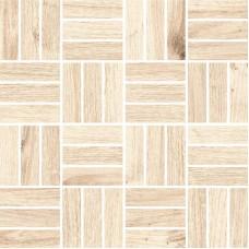 Мозаика на сетке Cersanit Woodhouse светло-бежевый 30x30 WS6O306