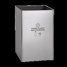"""Нержавеющее мусорное ведро, надпись """"только для пластмассы"""" SLZN 49AA"""