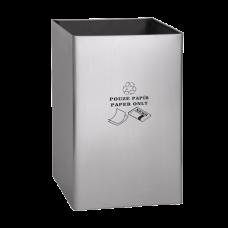"""Нержавеющее мусорное ведро, надпись """"только для бумаги"""" SLZN 49AB"""