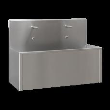 Нержавеющий антивандальный настенный желоб с интегрированной электроникой (2 шт.), длина 1250 мм, 24 В пост. SLUN 80EA