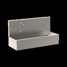 Нержавеющий подвесной желоб с интегрированной электроникой (2 шт.), термостатическим смесителем, длина 1250 мм, 24 В пост. SLUN 80ET