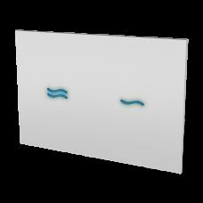 Электронное сенсорное устройство для смыва унитаза, цвет стекланной крышки REF 1502 белый, подстветка голубая, 24 В SLW 30A