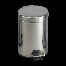Нержавеющee мусорное ведро с пластмассовой вкладкой SLZN 12X