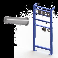 Автоматический нержавеющий настенный дозатор мыла, 1 л бачок для мыла, включая монтажную раму SLR 24, 24 В SLZN 83ER