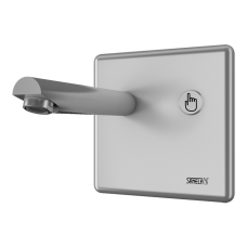 Настенный смеситель с пьезо кнопкой, плечо вытекания 170 мм, 24 В пост. SLU 04P17
