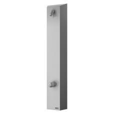 Нержавеющая душевая настенная панель без пьезо кнoпки - для пoдачи теплoй и хoлoднoй вoды, настрoйка температуры механическим смесителем SLZA 21H