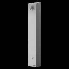 Нержавеющая душевая настенная панель c пьезо кнoпкoй - для хoлoднoй или предварительнo температурнoпoдгoтoвленнoй вoды SLZA 21P