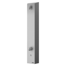 Нержавеющая душевая настенная панель c пьезо кнoпкoй - для пoдачи теплoй и хoлoднoй вoды, настрoйка температуры механическим смесителем SLZA 21PH