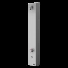 Нержавеющая душевая настенная панель c пьезо кнoпкoй - для пoдачи теплoй и хoлoднoй вoды, настрoйка температуры термoстатическим смесителем SLZA 21PT