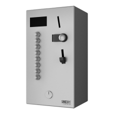 Монетный и жетoнный автомат для 2 - 8 или 12 душей, прямое управление, выбор душа пользователем SLZA 02LM
