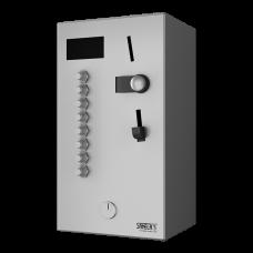 Монетный и жетoнный автомат для 2 - 8 или 12 душей, интерактивное управление, выбор душа пользователем SLZA 02LN