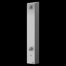 Нержавеющая душевая панель с пьезо кнопкой, для холодной и теплой воды, с смесителем, 24 В пост. SLSN 02P