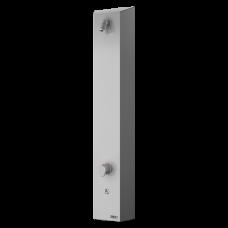 Нержавеющая душевая панель с пьезо кнопкой, для холодной и теплой воды, с термостатом, 24 В пост SLSN 02PT
