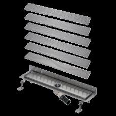 Нержавеющий водоотводящий желоб к стене, длина 1150 мм SLKN 08A(X) - SLKN 08F(X)
