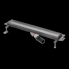 Нержавеющий водоотводящий желоб под плитку, длина 850 мм SLKN 12