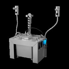Комплект 2 шт. автоматических нержавеющих дозаторов мыла на столешницу, 6 л центральный бачок для мыла, 24 В SLZN 91E2