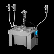 Комплект 3 шт. автоматических нержавеющих дозаторов мыла на столешницу, 6 л центральный бачок для мыла, 24 В SLZN 91E3