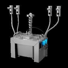 Комплект 4 шт. автоматических нержавеющих дозаторов мыла на столешницу, 6 л центральный бачок для мыла, 24 В SLZN 91E4