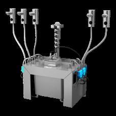 Комплект 5 шт. автоматических нержавеющих дозаторов мыла на столешницу, 6 л центральный бачок для мыла, 24 В SLZN 91E5