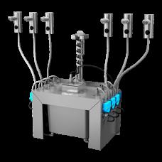 Комплект 6 шт. автоматических нержавеющих дозаторов мыла на столешницу, 6 л центральный бачок для мыла, 24 В SLZN 91E6