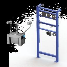 Комплект 2 шт. автоматических нержавеющих настенных дозаторов мыла, центральный 6 л бачок для мыла, включая монтажную раму SLR 24, 24 В SLZN 83ER2