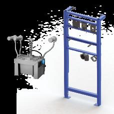 Комплект 3 шт. автоматических нержавеющих настенных дозаторов мыла, центральный 6 л бачок для мыла, включая монтажную раму SLR 24, 24 В SLZN 83ER3