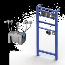 Комплект 4 шт. автоматических нержавеющих настенных дозаторов мыла, центральный 6 л бачок для мыла, включая монтажную раму SLR 24, 24 В SLZN 83ER4