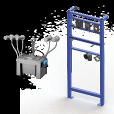 Комплект 5 шт. автоматических нержавеющих настенных дозаторов мыла, центральный 6 л бачок для мыла, включая монтажную раму SLR 24, 24 В SLZN 83ER5