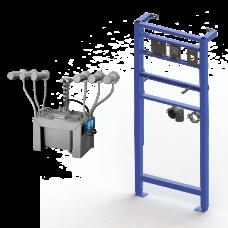 Комплект 6 шт. автоматических нержавеющих настенных дозаторов мыла, центральный 6 л бачок для мыла, включая монтажную раму SLR 24, 24 В SLZN 83ER6