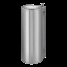 Нержавеющий питьевой фонтан с нажимной арматурой, монтаж к стене, охлаждение SLUN 43C