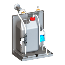 Смеситель для однотрубной системы подачи воды с дoзатoрoм мыла за зеркалo, 24 В пoст. SLZN 84F