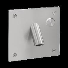 Настенный нержавеющий смеситель с пьезо кнопкой и антивандальной крышкой, для подачи холодной или заранее подготовленной воды, 6 В SLU 44PB