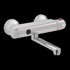 Автоматический настенный термостатический смеситель, расстояние подачи воды 150 мм, 9 В SLU 25SB