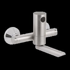 Автоматический настенный нержавеющий смеситель для подачи холодной и теплой воды, расстояние подачи воды 150 мм, 9 В SLU 12BR - РАСПРОДАЖА