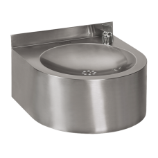 Нержавеющий питьевой фонтан с автоматической арматурой, 6 В SLUN 62EB