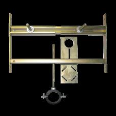 Монтажная рама для писсуара с радарным устройством смыва укрепленным на монтажной рейке SLR 01L
