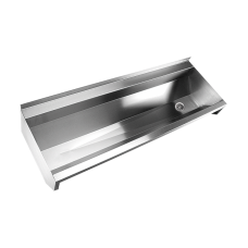 Нержавеющий подвесной желоб без облицовки, AISI 304, 1250 мм SLUN 10