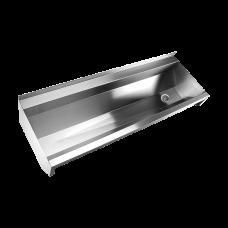 Нержавеющий подвесной желоб без облицовки, AISI 316L, 1250 мм SLUN 10L